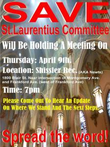 Save St Laurentius meeting 4/9/2015